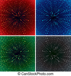 Abstract Zoom - Through the Universe Abstract vector...