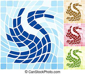 abstract, zwaan, stylized, achtergrond., vorm, artistiek, ...
