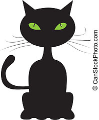 abstract, zwarte kat
