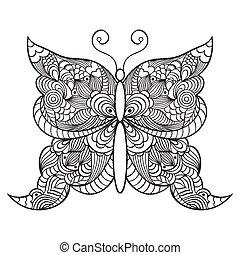 abstractbutterfly, white háttér
