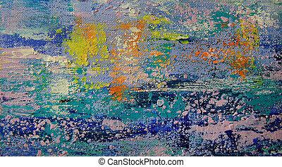 abstracte kunst, schilderij, achtergrond