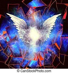 abstractie, engelachtig, vleugels