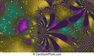Abstraction - a gold tunnel