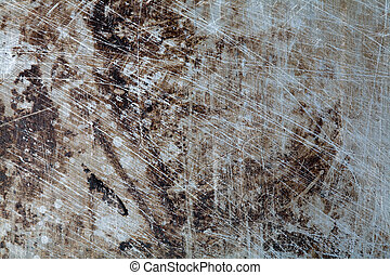 Abstraction - An image of a background of scratched rusty...