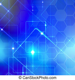 abstraction background - blue digital abstraction background...