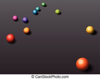 Abstraction background with colorful balls