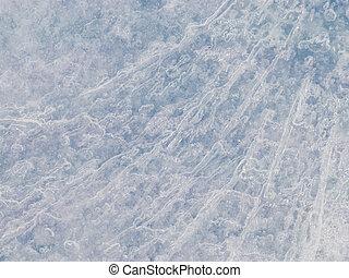 translucent blue ice surface