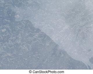 translucent blue ice