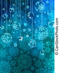 Abstraction blue Christmas background. EPS 8
