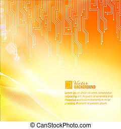 abstraction., colorato, circuito