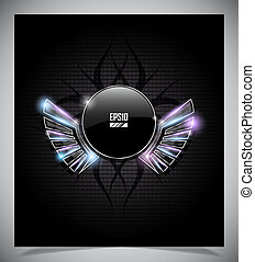 Abstraction dark background with wings. - Abstraction dark ...
