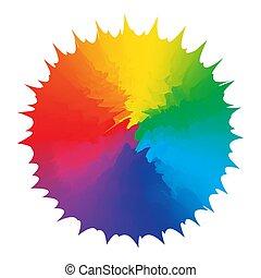 Abstraction figure multicolors rainbow design element. ...