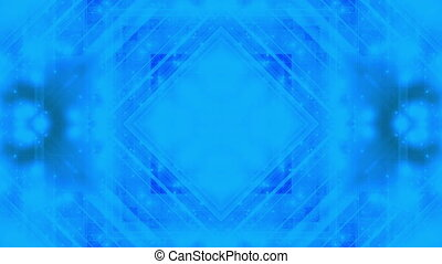 Abstraction geometric blue green CG looping shapes and...