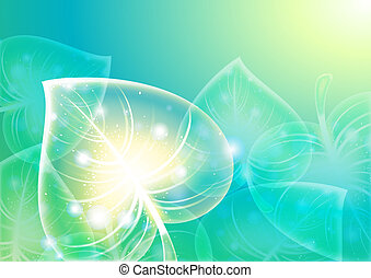 Abstraction leaf background 10 eps