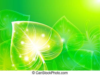 Abstraction leaf-background 10 eps