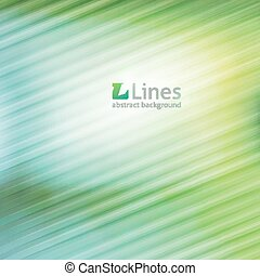 vector abstract background with lines and logo of letter L, green color