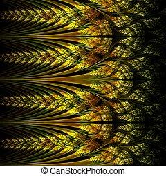 Abstraction of fractal spike, digital artwork for creative