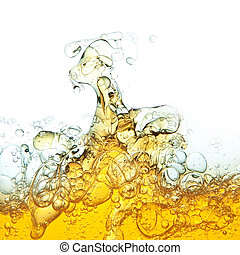 Abstraction, oil bubbles in water.