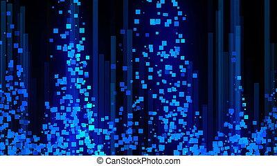 abstraction, render, espace, beaucoup, -, communication, fond, engendré, informatique, numérique, données, lignes, 3d