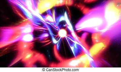 Abstraction resembling vigorous the hypnotic eyes of a demon on a dark background. Fractal art graphics.