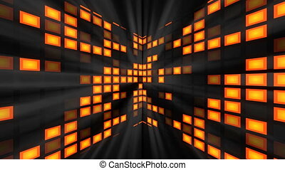 Abstraction with bright modern disco room. 3d rendering...