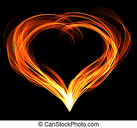 abstractly fiery heart
