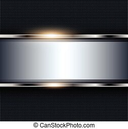 Abstractr metallic background, 3d shiny vector illustration.