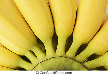 Abstracts backgrounds textures with macro close up banana fruits