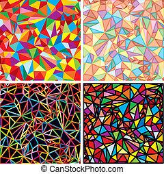 abstrakcja, mozaika