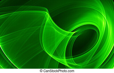 abstrakcja, zielony