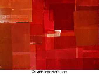 abstrakcyjna sztuka, czerwony