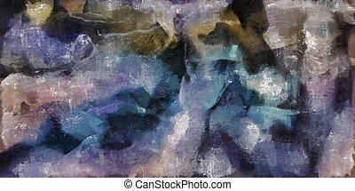 abstrakcyjne malarstwo, barwny