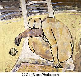 abstrakcyjne malarstwo