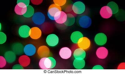 abstrakcyjny, -, światła, tło, boże narodzenie, hd