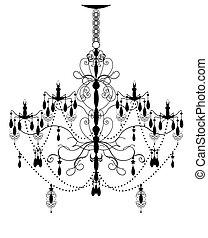 abstrakcyjny, świecznik, ozdobny, projektować, rocznik wina, elegancki, element