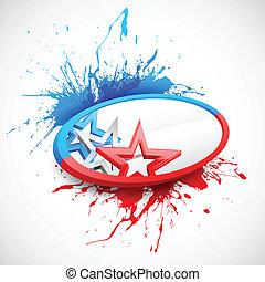 abstrakcyjny, amerykańska bandera, tło