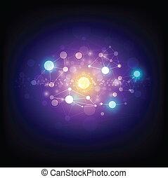 abstrakcyjny, astronomia, tło