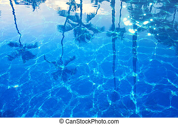 abstrakcyjny, błękitny, morze, lato, tło
