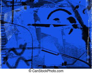 abstrakcyjny, błękitny