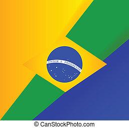 abstrakcyjny, bandera, tło, brazylijczyk
