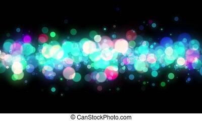 abstrakcyjny, barwny, bokeh, cząstki, pętla, tło, 4k