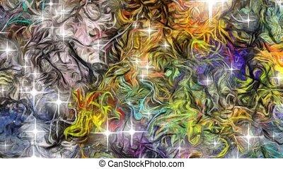 abstrakcyjny, barwny, malarstwo