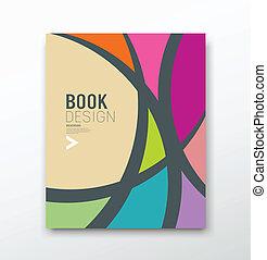 abstrakcyjny, barwny, projektować, krzywa