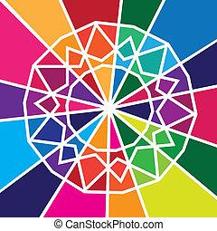 abstrakcyjny, barwny, projektować