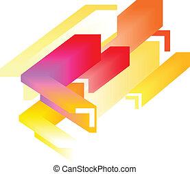 abstrakcyjny, -, barwny, tło, 3