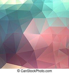 abstrakcyjny, barwny, triangle, tło