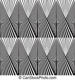 abstrakcyjny, biały, czarne tło, tony