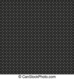 abstrakcyjny, biały, kropkuje, na, czarne tło