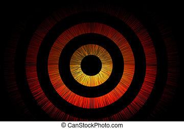 abstrakcyjny, bullseye, tło