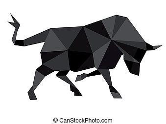 abstrakcyjny, byk